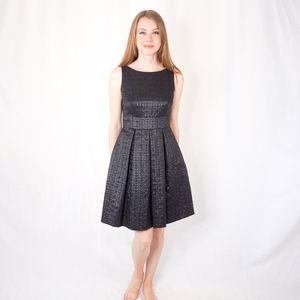 Eliza J Missy Black Shiny Brocade Mini Dress 4 061